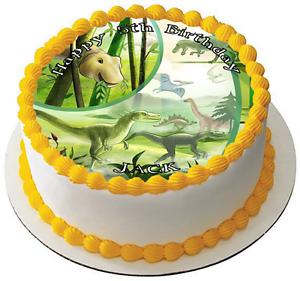 Dinosaures 7.5 Premium comestible glaçage cake topper peut personnalisé D3