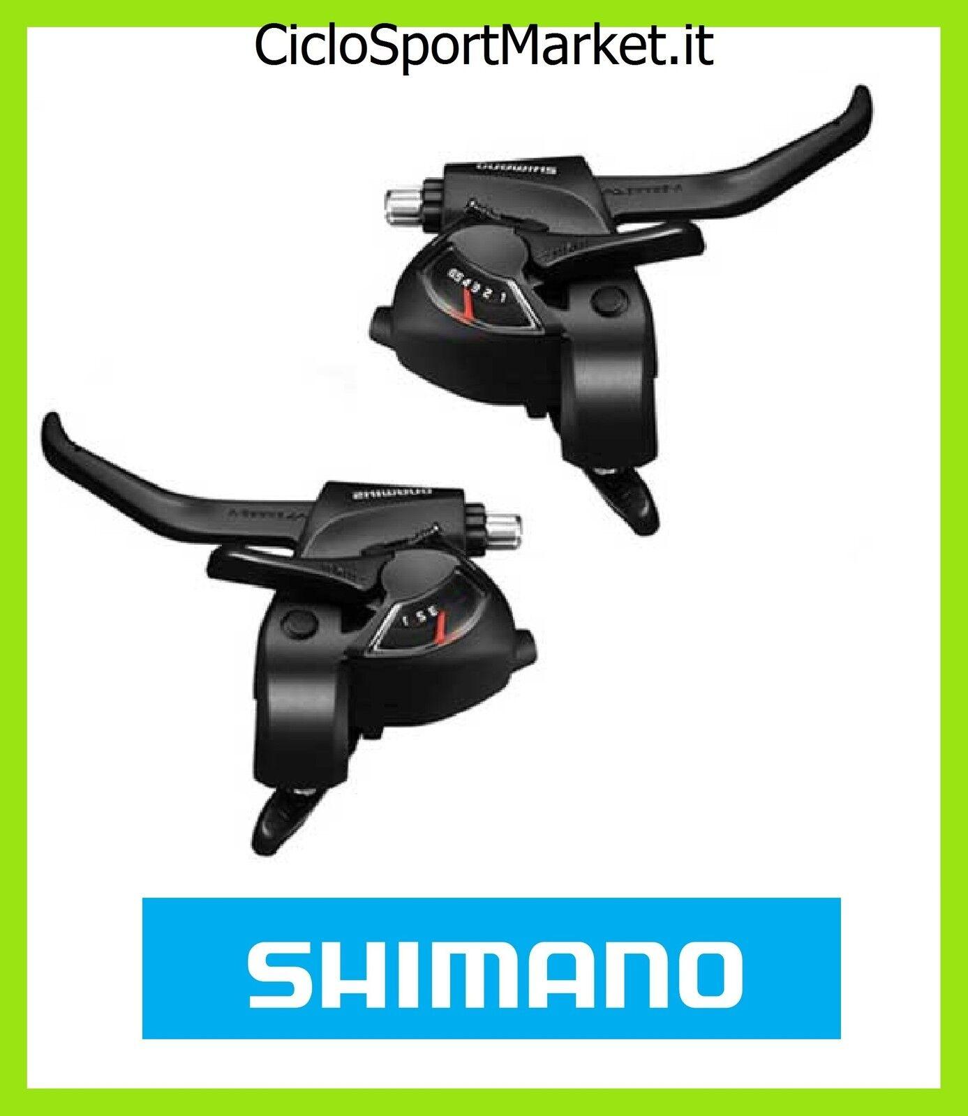 Coppia Leve SHIMANO Comandi Cambio + Freni 6 x 3  Velocità (+ Fili) 18 V bici  buy cheap
