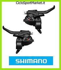 Coppia Leve SHIMANO Comandi Cambio + Freni 6 x 3 Velocità (+ Fili) 18 V bici