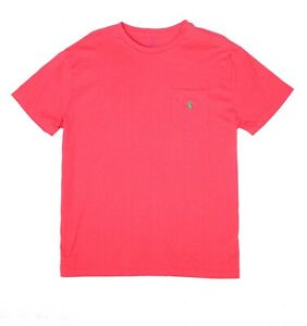 Polo-Ralph-Lauren-Mens-T-Shirt-Red-Size-XL-Crewneck-Classic-Fit-Tee-39-088