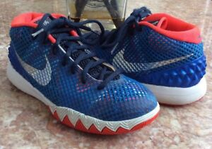 ab91a531f494 Nike Kyrie 1 USA Independence Day Kid s Blue Neon-Red Shoes Size 5Y ...