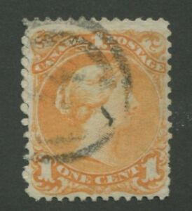 """CANADA #23 USED LARGE QUEEN 2-RING NUMERAL CANCEL """"14"""""""