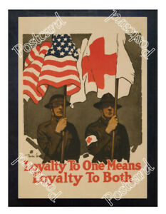 Historic-WWI-Recrutiment-Poster-Red-Cross-Loyalty-Postcard
