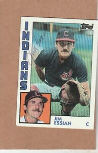 1984 Topps # 737 Jim Essian - Autographed card