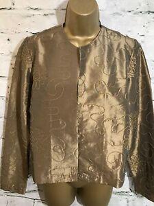 Carol Gold Evening Uk Jacket Maggie £79 Silky 14 Ladies Open 10 Antique Rrp Us TtYYwqdx