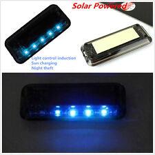 Solar 6LED Blue Light Car Alarm Security Flash Anti-Theft Burglar-Deterrent Lamp