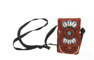 Pochette Etui Traditionnel Cauris Artisanat Tibetain Sac Tibet 5908 Perles vg1Eg