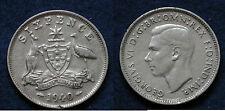 MONETA COIN AUSTRALIA KING GEORGE VI° SIX PENCE 1940 - ARGENTO SILBER SILVER