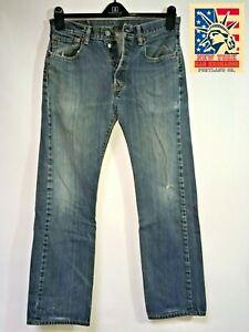 Levi-039-s-501-Jeans-Distressed-Faded-Hippie-Boho-chic-punk-Hobo-Denim-32x30