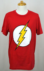 the flash t shirt dc comics superhero logo graphic tee red nwt ebay