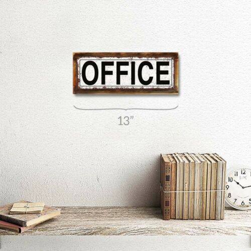Office Metal Sign; Wall Decor for Home and Office