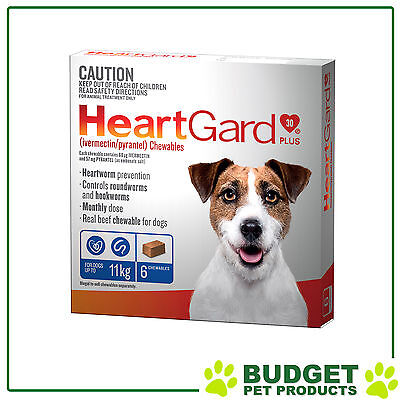 Heartgard Plus For Small Dogs Up To 11kg Blue 6 Chewables