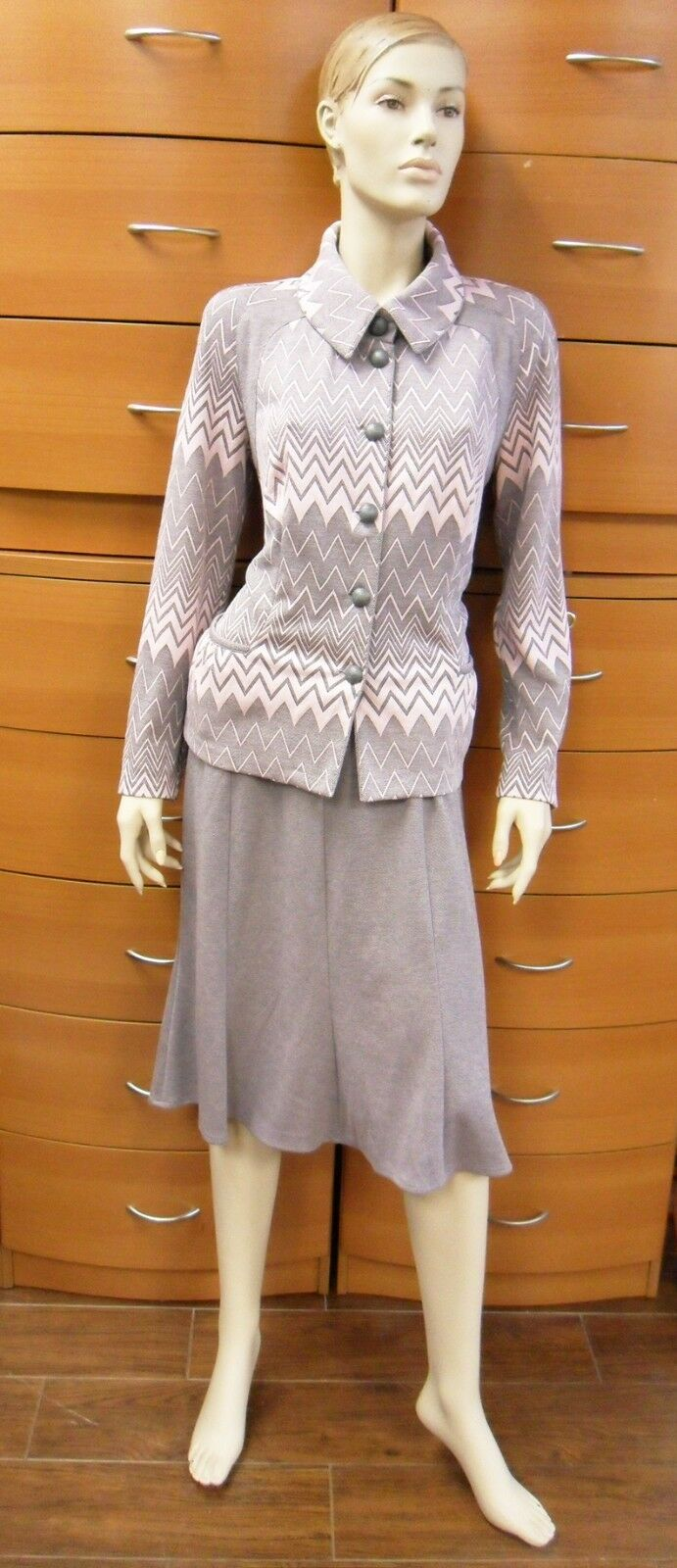 SKIRT SET A-LINE SKIRT MADE IN EUROPE ALL SEASON STRETCH CLASSIC LONG SLEEVES