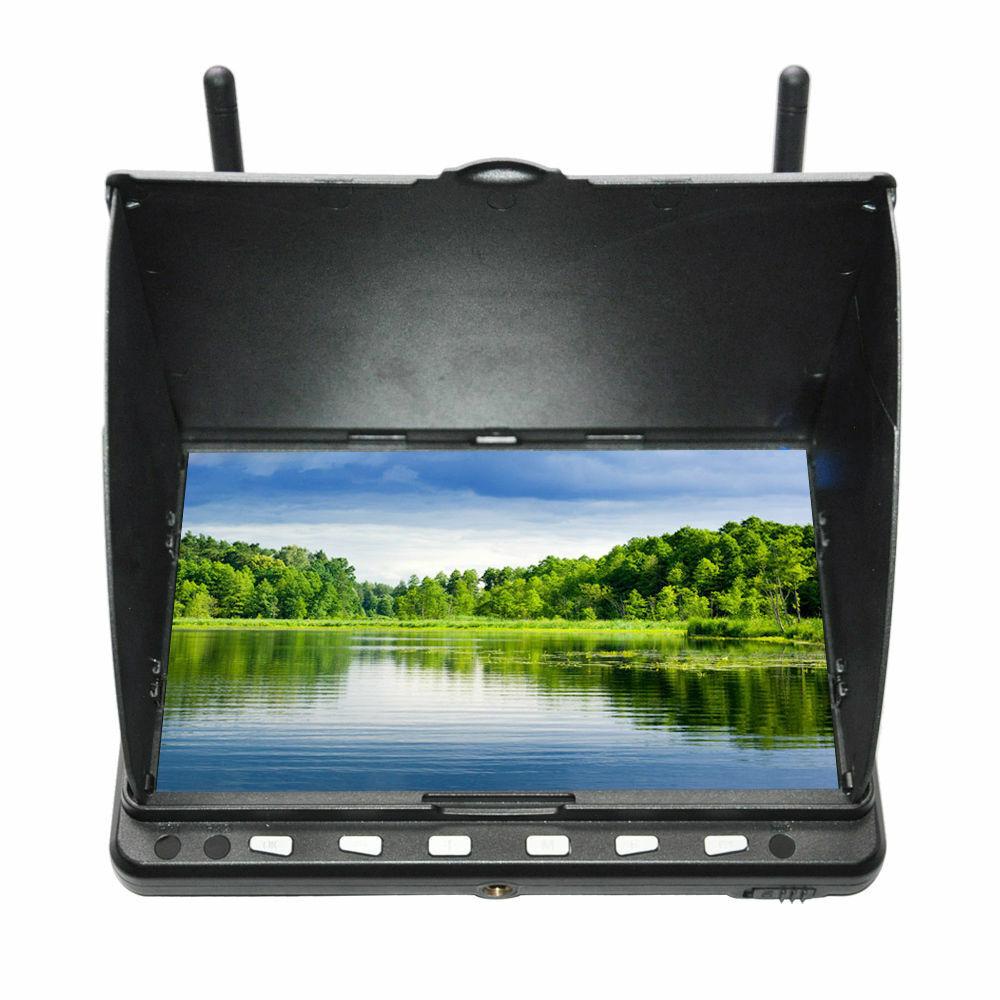 Skyzone HD02 40CH 5.8G 7 Pulgadas HD Monitor LCD de vista en primera persona Receptor DVR HDMI NTSC PAL
