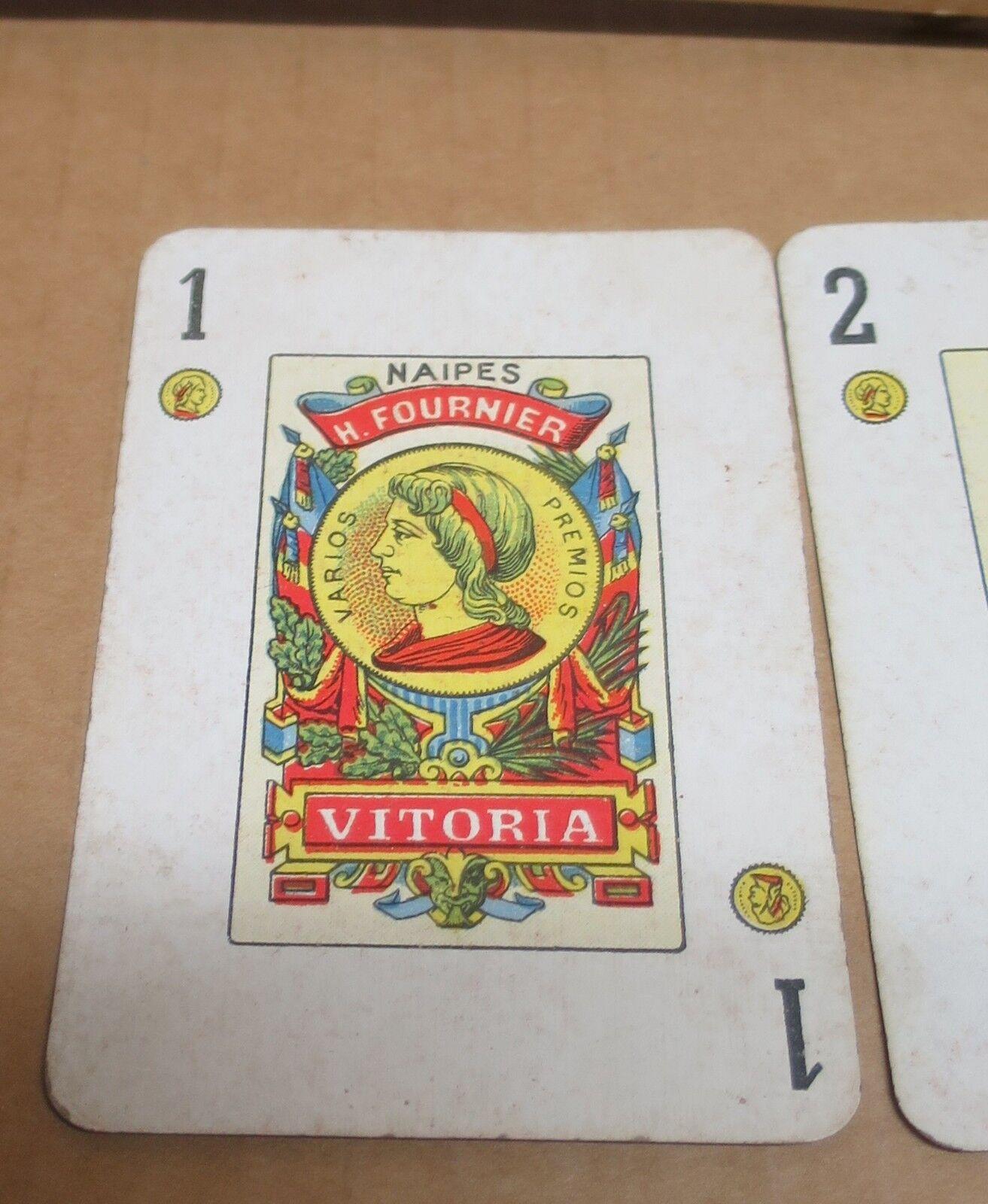 CARTES A JOUER ESPAGNE  cartes jeux de 40 cartes  + Joker à enseignes FOURNIER VITORIA 76b561