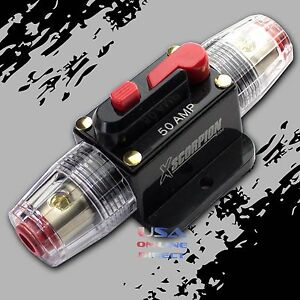Marine Grade Gold Inline 12Volt 100 Amp Power Circuit Breaker manual reset Audio