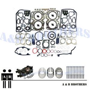 Details about Fit STi WRX EJ205 EJ207 EJ208 MLS Gasket Set +Head Bolt +Oil  Pump +Piston Rings