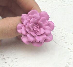 BAGUE-Fleur-rose-Fimo-Vernie-Bijou-Neuf-amp-Unique-Taille-Ajustable-idee-Cadeau
