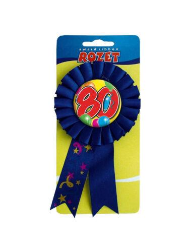 Rosette Ballons Happy Birthday Zahl 80 Jahre Geschenkverpackung