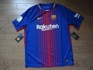 new style ec3d8 7b5eb Details about SALE! FC Barcelona 100% Original Latest Kit Jersey Shirt  2017/18 Home BNWT L