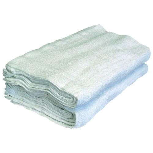 "NEW WHITE TERRY CLOTH TOWELS APPROXIMATELY 16/"" X 19/""  40 LBS PER CASE"