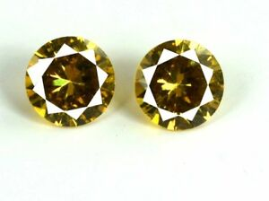 AGSL-Certified-Yellow-Sapphire-Loose-Gemstone-Pair-5-Ct-Natural-Round-Cut-2-Pcs