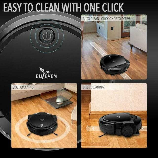 Robotic Vacuum and Mop Cleaner for Hardwood Floor Short Carpet Wet Dry  Mopping