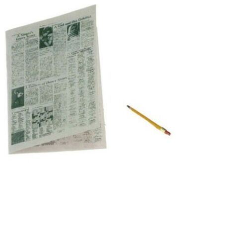 Dollhouse Miniatures 1:12 Scale Newspaper with Pencil #IM65119