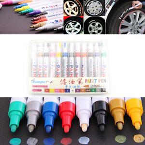 12st-Box-Universal-wasserdicht-permanent-Paint-Marker-Pen-Autoreifen-GummiQY