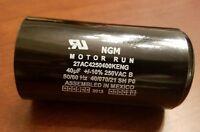 Ngm Motor Run Capacitor 40 Mf 250 Vac 50/60 Hz
