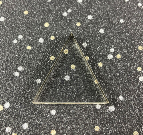 Laser Cut Clear Acrylic triangles Perspex Various Sizes small Arts /& Crafts