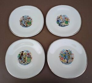 4-assiettes-a-dessert-ST-AMAND-METIERS-anciennes-vintage-cuisine-french-dishes