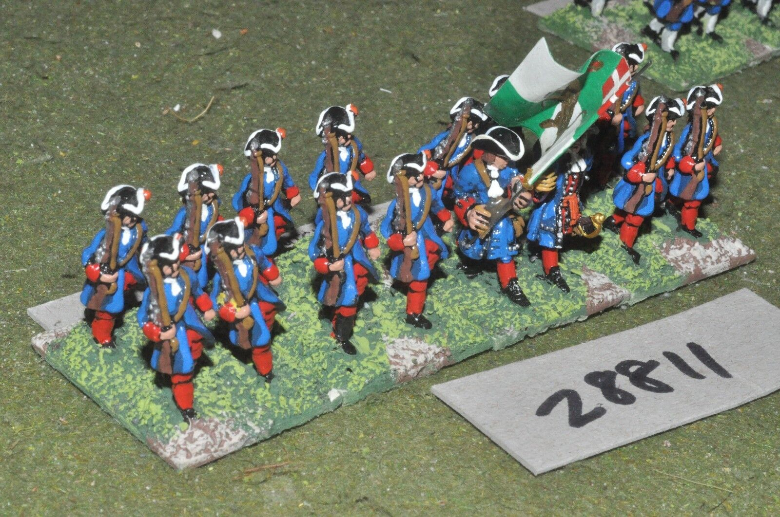 25mm marlburian   dutch - regt. 16 figures - inf (28811)