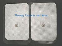 Xl Wide Replacement Massage Pads (4) (9x6cm) For Pinook Digital Massager Tens