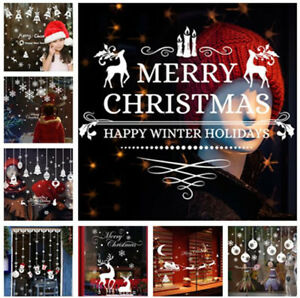 Buon-NATALE-a-Casa-Wall-Art-Rimovibile-Vinile-Finestra-Adesivi-Murali-Decal-Decor