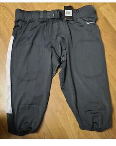 Nike Team Vapor Pro Football Pants Men Size XL Gray White Compression 845930-061