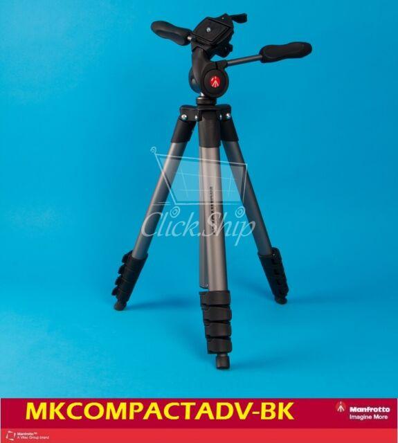 Manfrotto Compact Advanced Aluminum Tripod (Black) Mfr # MKCOMPACTADV-BK