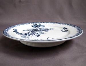 Assiette à Gâteau sur Pied service Fontanges Bleu Faïence de Sarreguemines hKUl0dVH-09112034-891552259