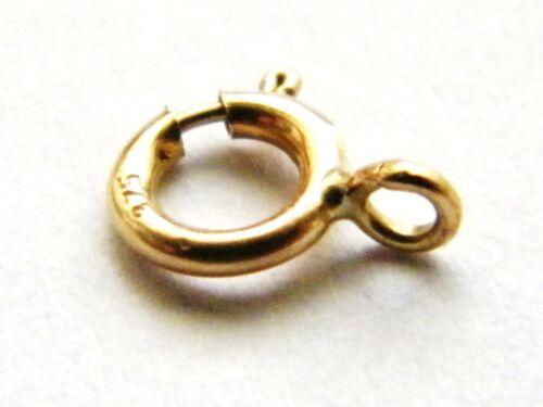 7mm Oro Amarillo 9ct Perno Anillo Cierre-Cerrado-Collar-resultados para joyería