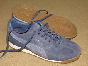 competitive price ca197 90b31 Details about EXCELLENT Puma Roma blue patterned brushed suede tennis shoes  - womens 10