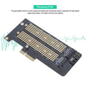 Mini M.2 nvme SSD NGFF a tarjeta PCIe X4 Convertidor Adaptador M clave + B T clave de doble puerto