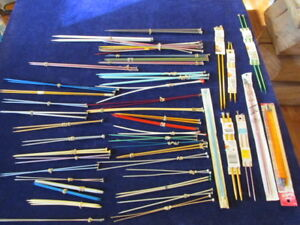 Large Lot of Knitting Needles 41 Pairs and 15 Single +More Assorted Sizes SY