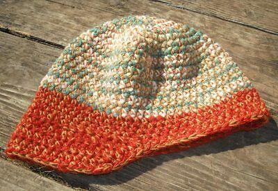 Adorable Earth Colors Infant Beanie with a Visor - Handmade by Michaela