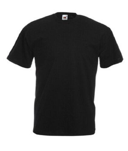 XXXL 10 Fruit of the Loom Günstig Einfach Schwarz Cotton T-Shirt No Logo S-3XL