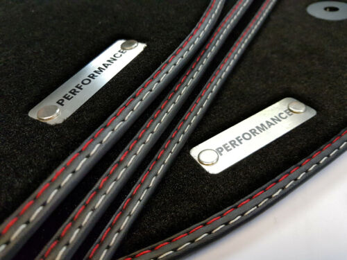 Performance tapices set para audi a3 8l más alta calidad gamuza logotipo de metal