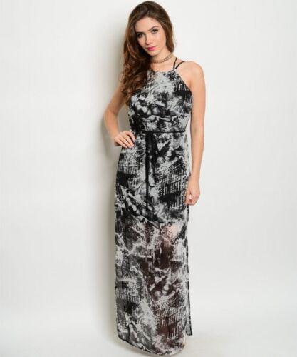 Misses Black and Gray Tie Dye Maxi Dress Size Medium NWT