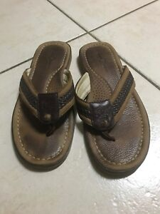 f7f388733 TOMMY Bahama Men s Brown Tan Leather ANCHORED Flip Flop Sandals ...
