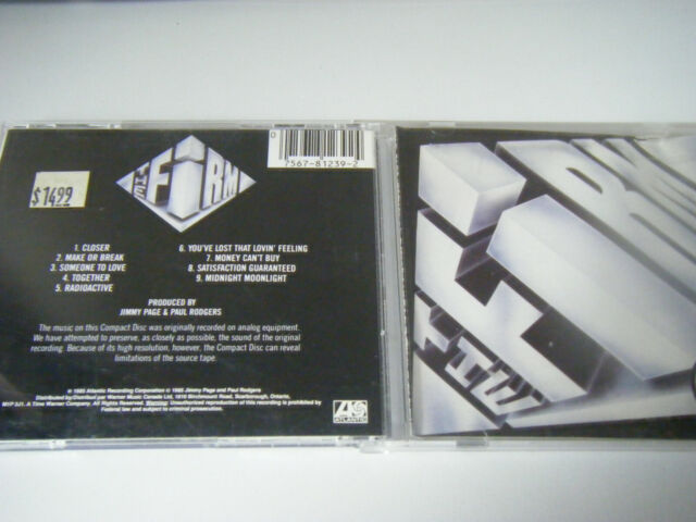The Firm by The Firm (Rock) (CD, 1985, Atlantic (Label))