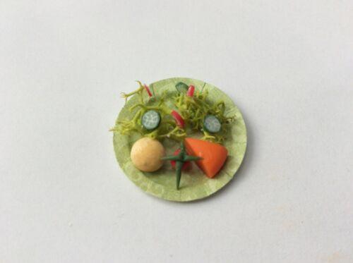 escala 12th//Labrador/'s Handmade Casa de muñecas comida ensalada de queso