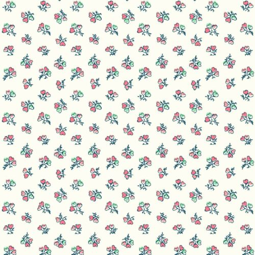 Liberty of London Cotton Fabric Tea for Two Heart Bouquets